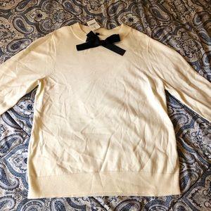 JCrew Bow Sweater